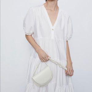 COPY - Zara white cotton poplin dress bloggers fa…